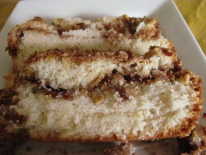 Cinnamon-Sour Cream Streusel Loaf