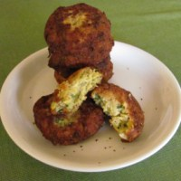 Artichoke, Feta, and Lemon Fritters