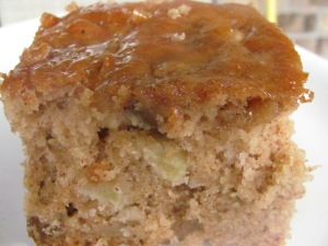 Fresh Apple Cake with Praline Glaze